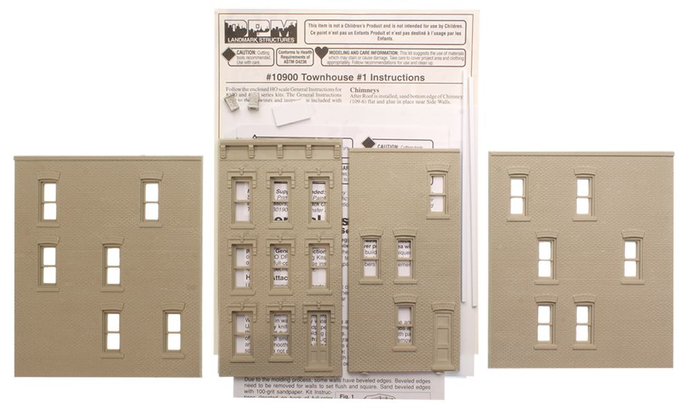 Townhouse #1 - HO Scale Kit
