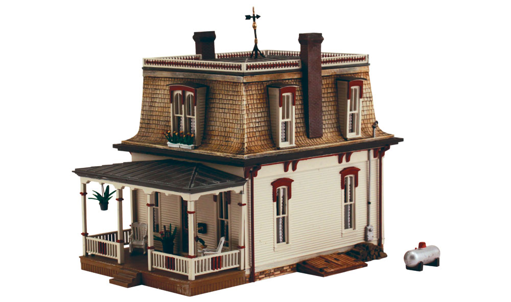 Ho scale model houses