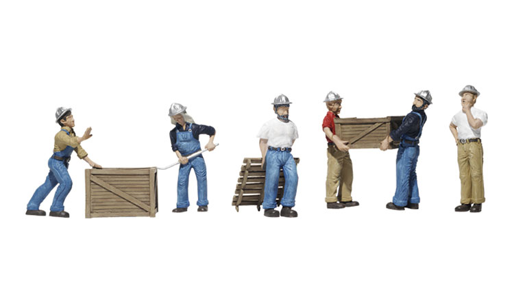 Dock Workers - HO Scale