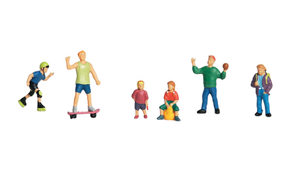 Kids at Play - HO Scale