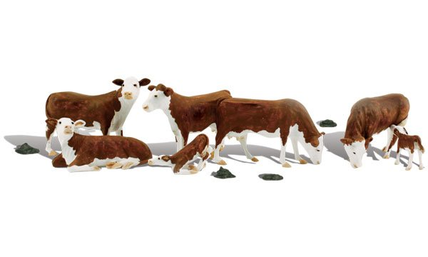 Hereford Cows -  HO Scale