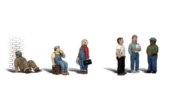 Factory Workers - HO Scale