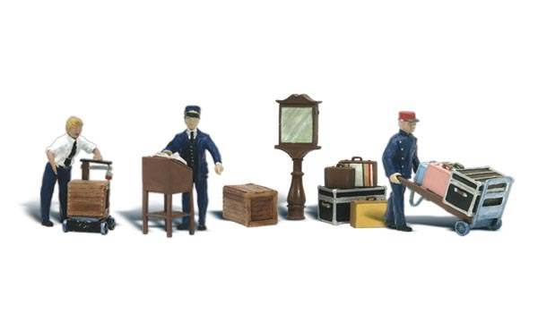 Depot Workers & Accessories - HO Scale