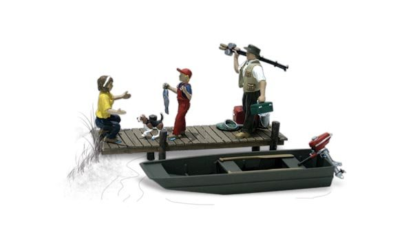 Family Fishing - HO Scale