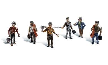 HO Scale Woodland Scenics Ho Scale Figurines Road Crew A1850
