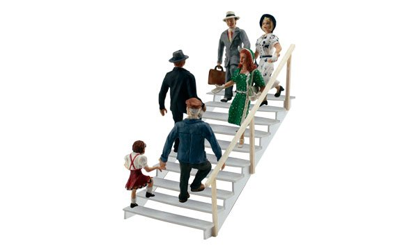 Taking the Stairs - HO Scale