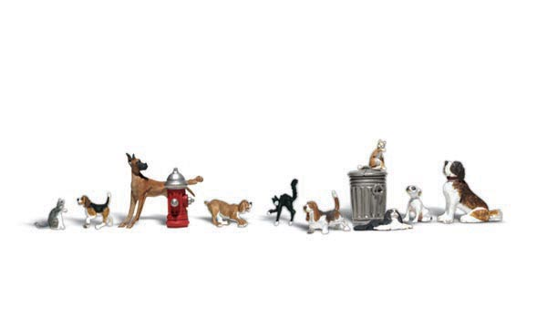 Dogs & Cats - N Scale