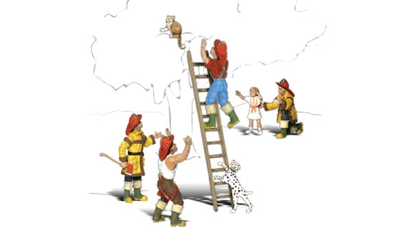 Firemen to the Rescue - N scale