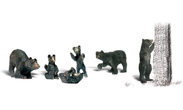 WOOA2186 Woodland Scenics Co N Black Bears