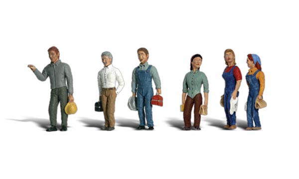 2nd Shift Workers - N scale