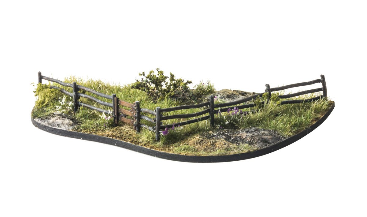 Log Fence - HO Scale