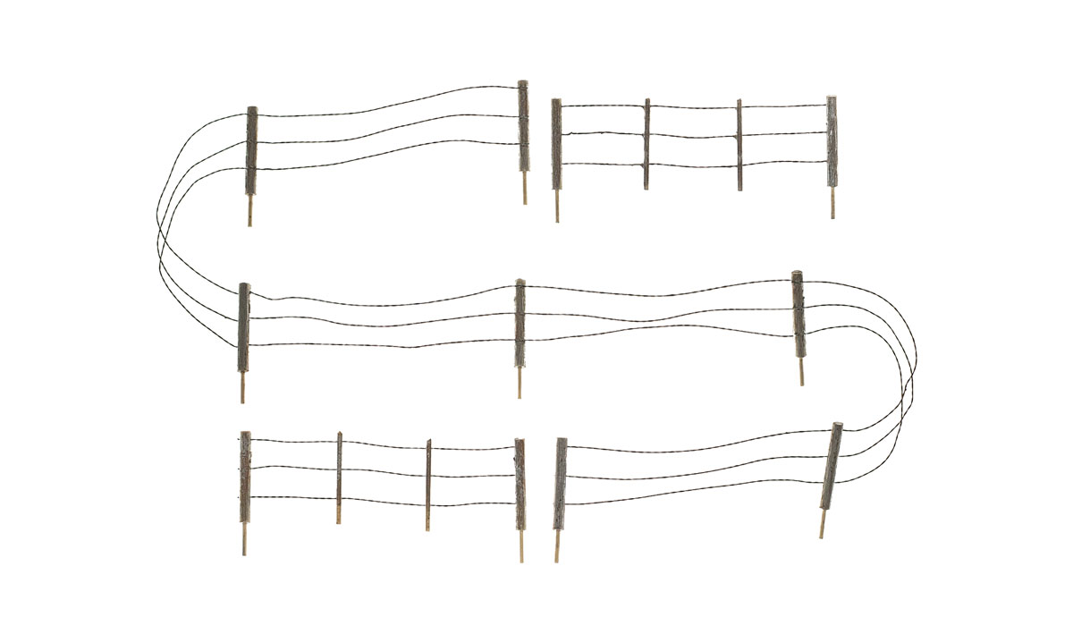 Barbed Wire Fence - N Scale
