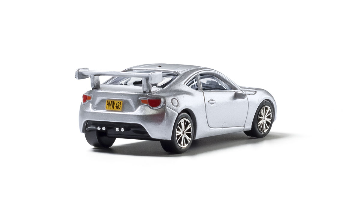 Silver Sports Car - HO Scale