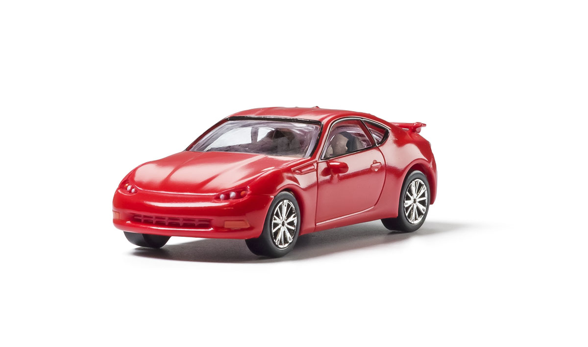 Red Sport Coupe - HO Scale