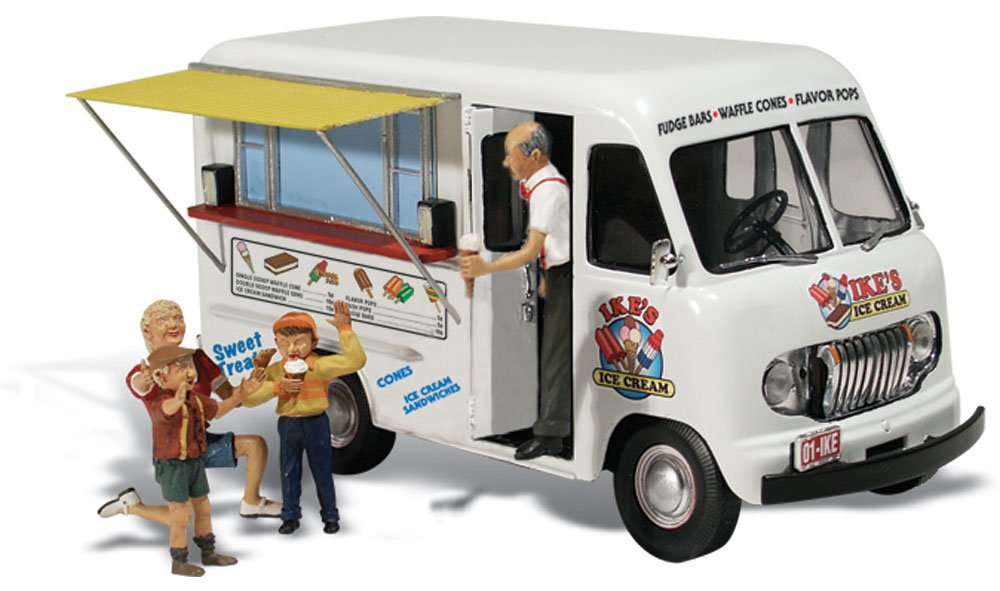 Ike's Ice Cream Truck - HO Scale