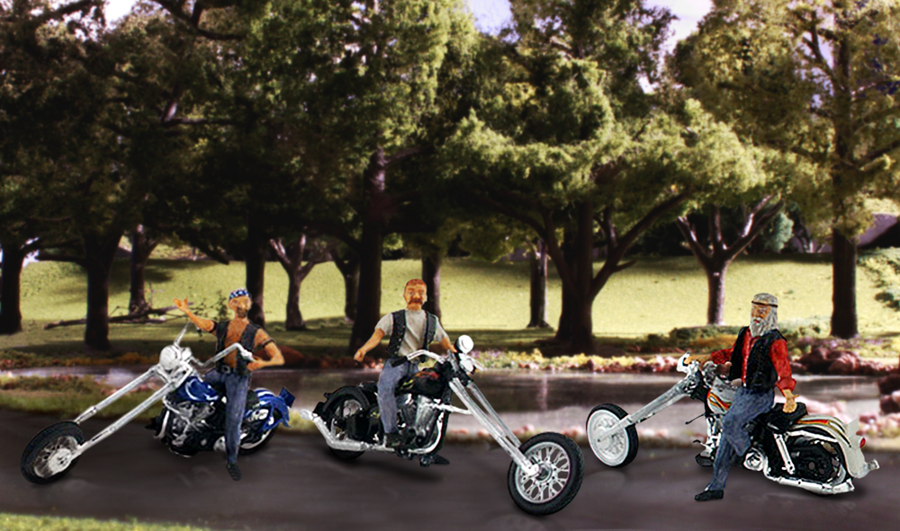 Bad Boy Bikers - HO Scale