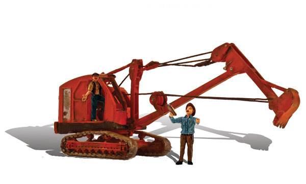 Backhoe - HO Scale
