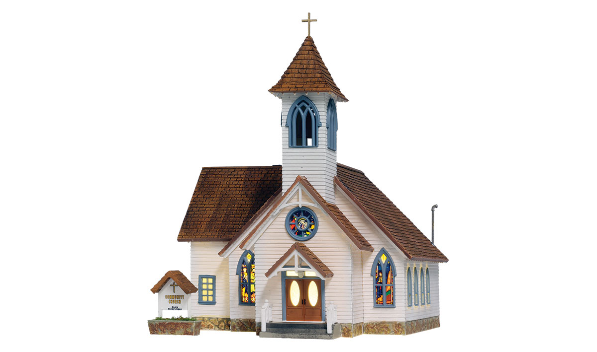 Community Church - HO Scale