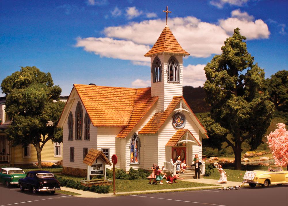 Community Church Ho Scale Ho Scale Woodland Scenics