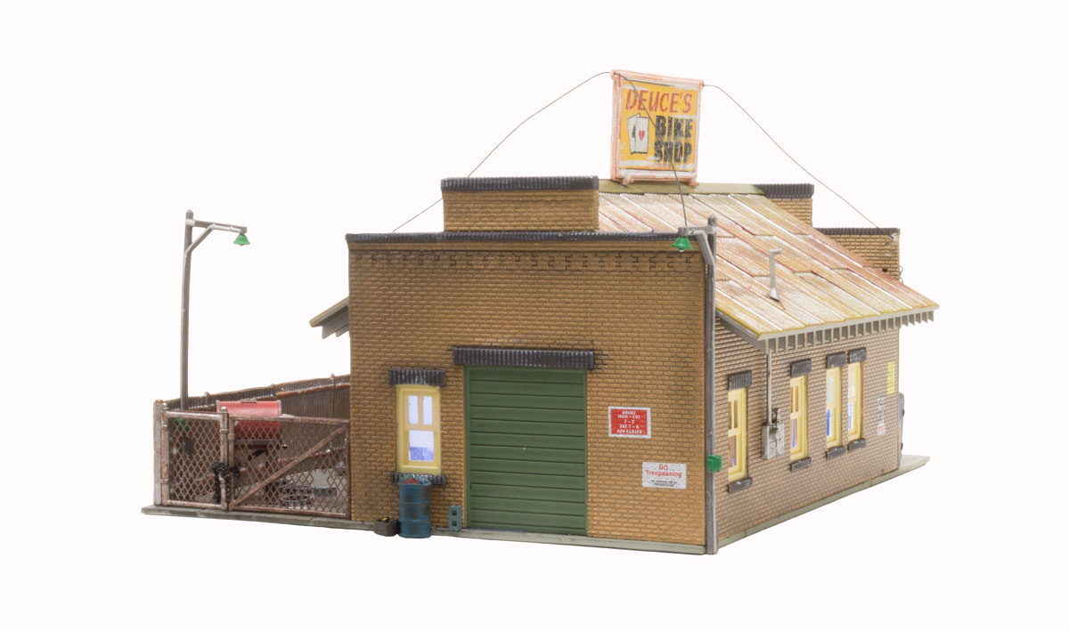 Deuce's Bike Shop - HO Scale