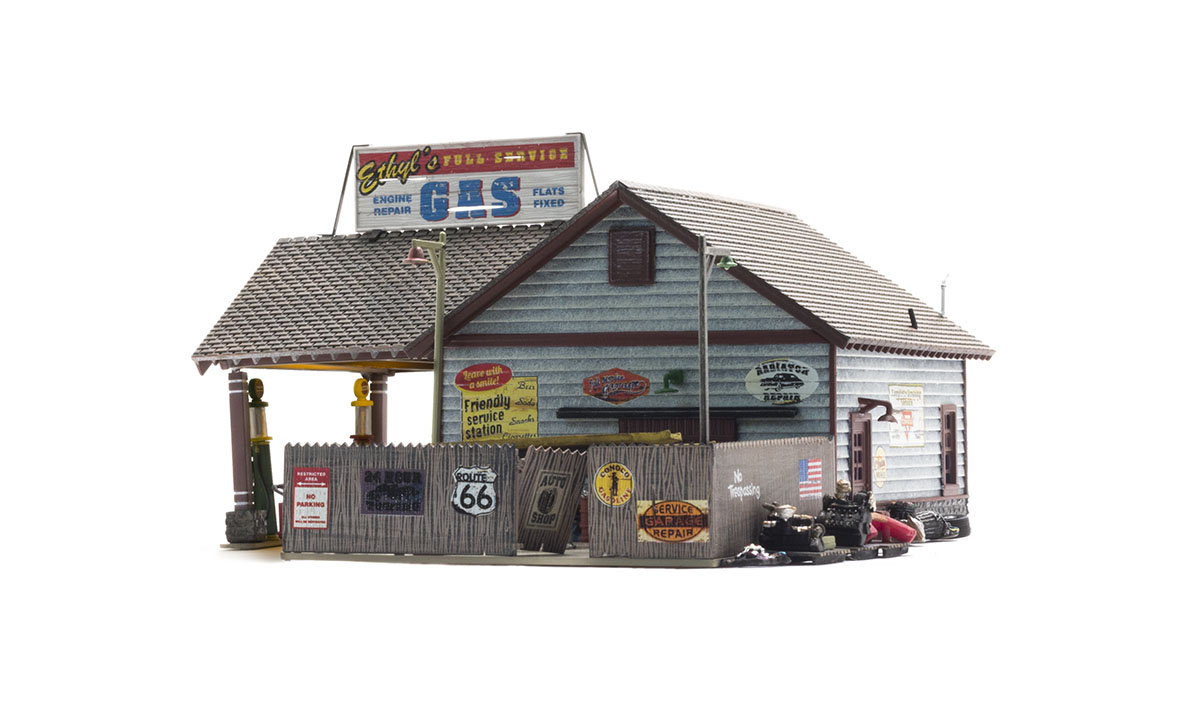 Ethyl's Gas & Service - HO Scale