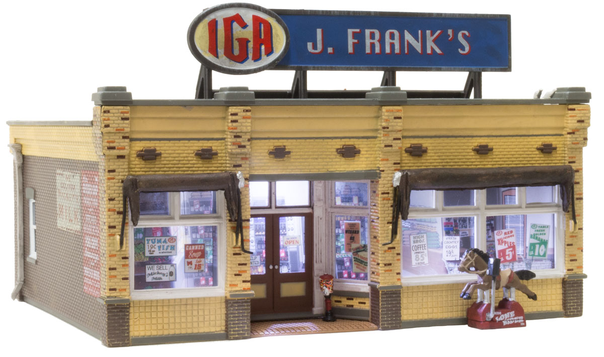 WOOBR5050 Woodland Scenics Co HO Built-Up J. Frank's Grocery