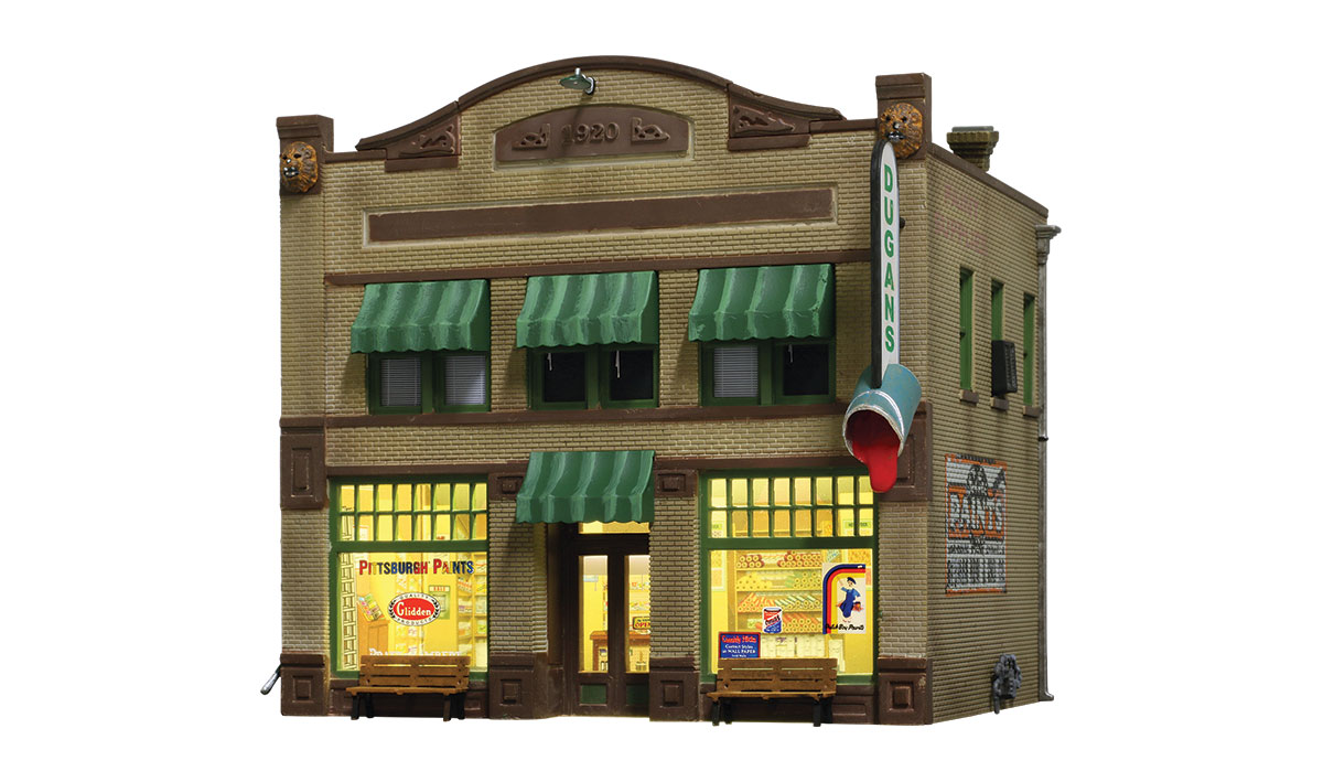 WOOBR5053 Woodland Scenics Co HO Built-Up Dugan's Paint Store