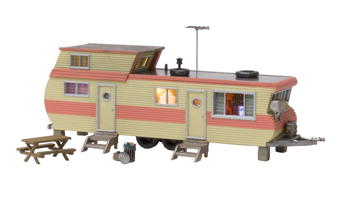 WOOBR5061 Woodland Scenics Co HO Built-Up Double Decker Trailer