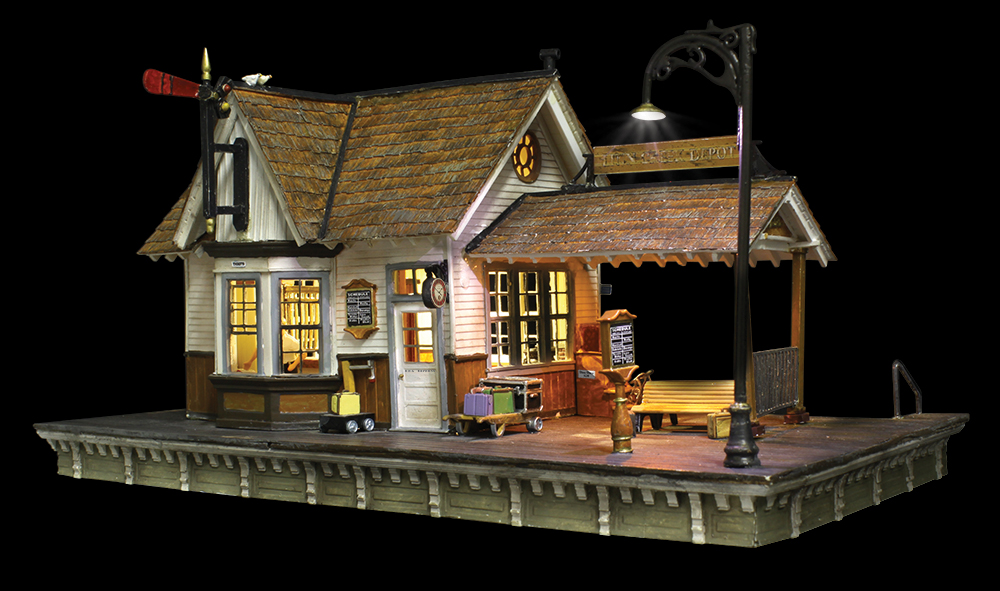 how to put ho scale scenery around buildings