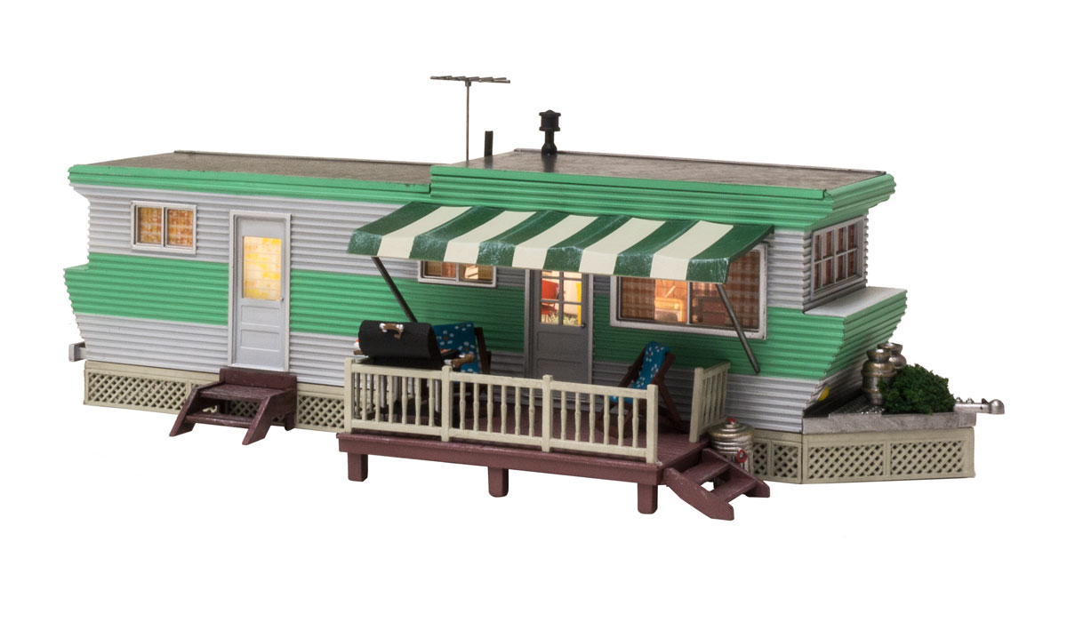 WOOBR5861 Woodland Scenics Co O Built-Up Grillin' & Chillin' Trailer