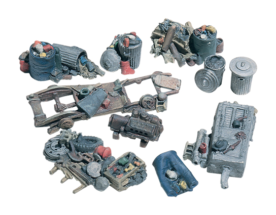 Assorted Junk Piles HO Scale Kit