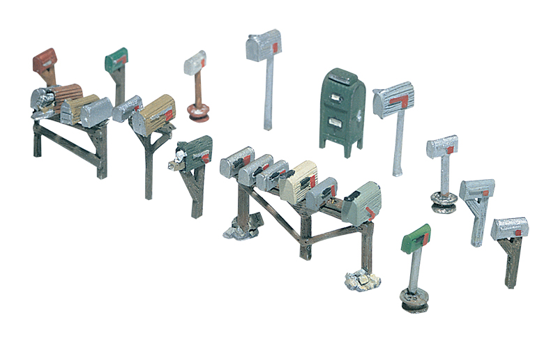 Assorted Mailboxes HO Scale Kit