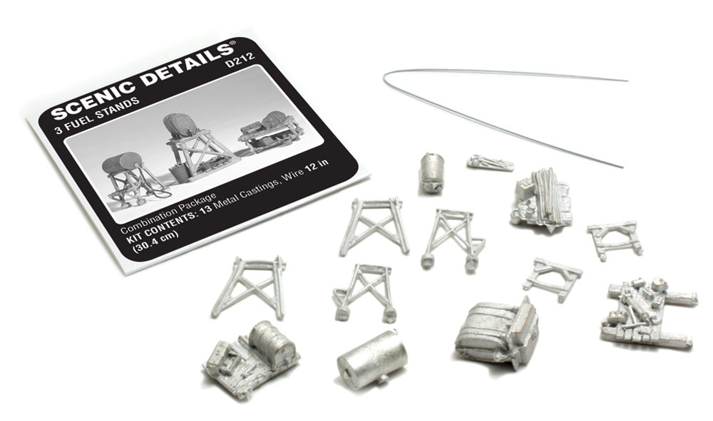 3 Fuel Stands HO Scale Kit