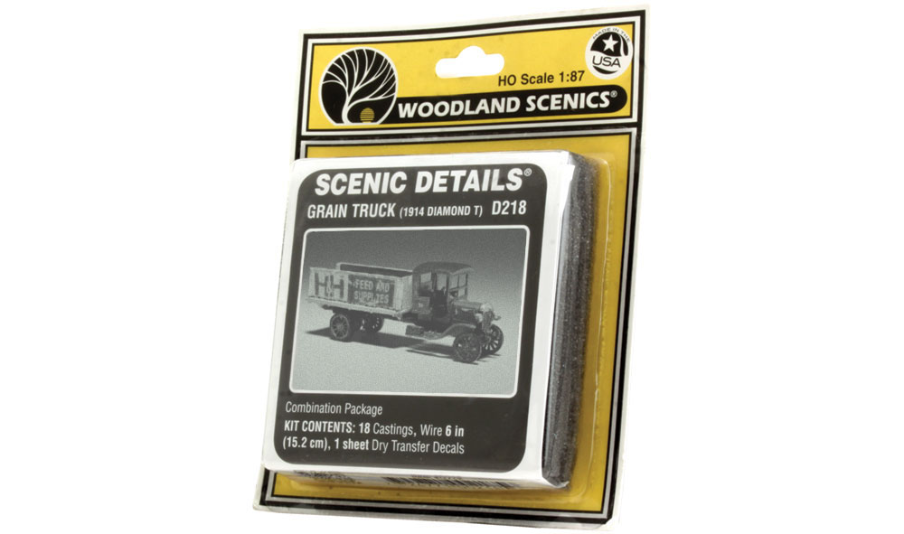 Grain Truck (1914 Diamond T) HO Scale Kit