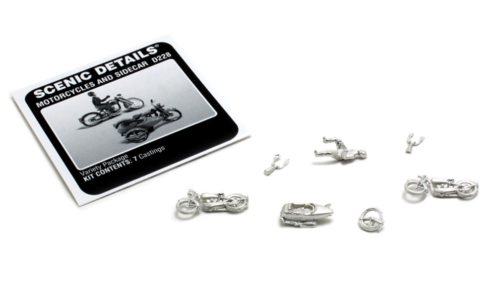 Motorcycles and Sidecar HO Scale Kit
