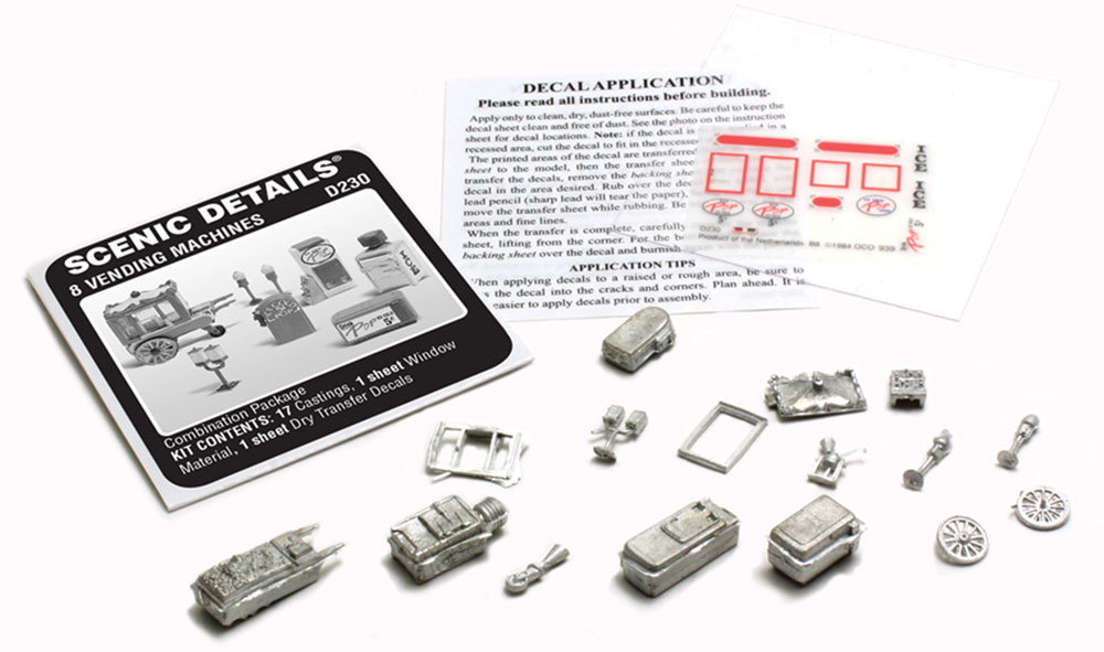 8 Vending Machines HO Scale Kit