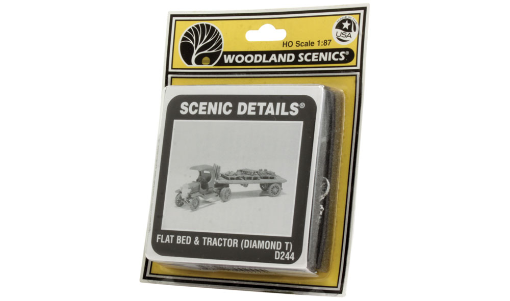 Flat Bed & Tractor (Diamond T) HO Scale Kit