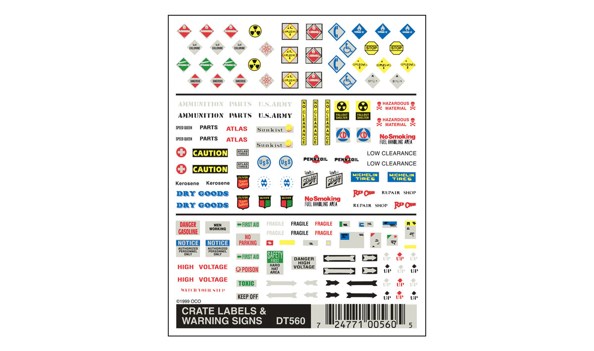 Crate Labels and Warning Signs