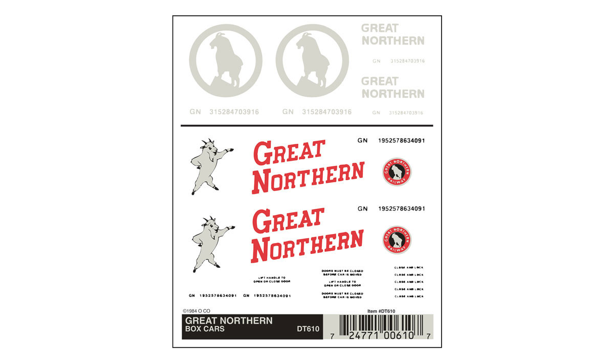 Great Northern Box Cars