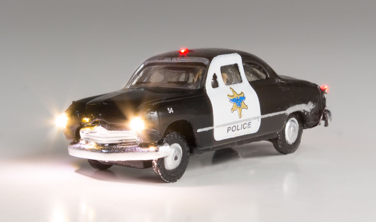 WOOJP5613 Woodland Scenics Co N Just Plug Police Car