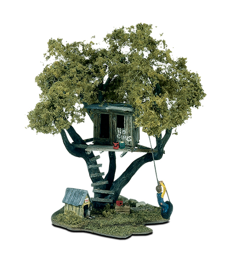 tommy 39 s treehouse ho scale kit mini scene woodland