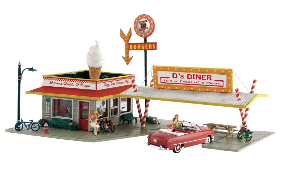 D's Diner - HO Scale Kit - Woodland Scenics