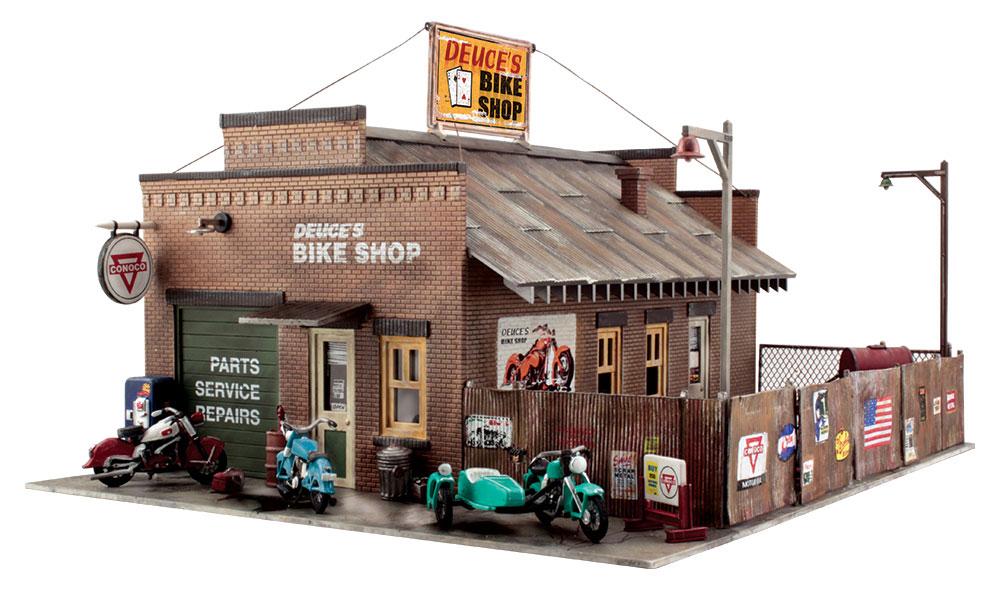 Deuce S Bike Shop Ho Scale Kit Ho Scale Woodland