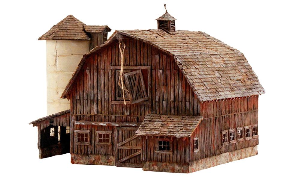 Rustic barn n scale kit n scale woodland scenics for Rustic home kits