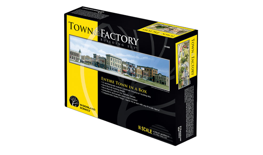 Town and Factory Building Set™ - N Scale Kits