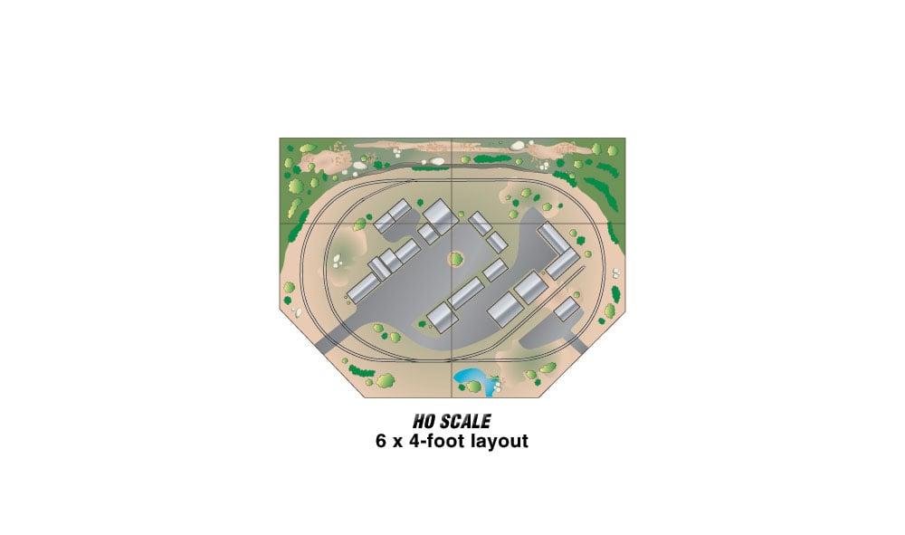 Mod-U-Rail® System - Corner Module Kit - Woodland Scenics