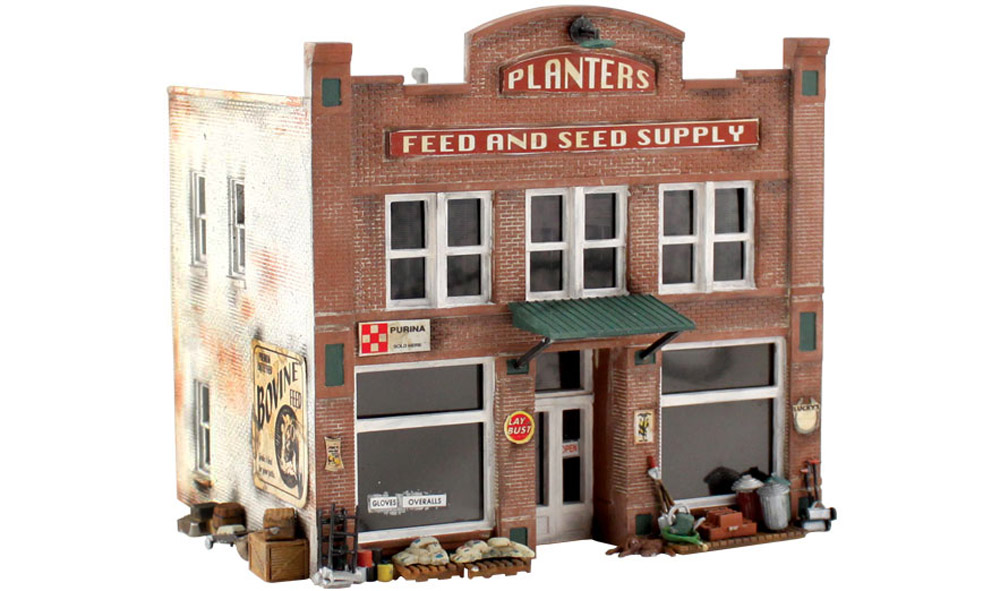 planters feed and seed supply - ho scale kit