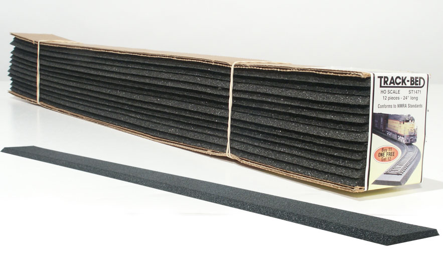 Track-Bed<sup><font size='-1'>™</font></sup> Strips (Standard Pack) - HO Scale